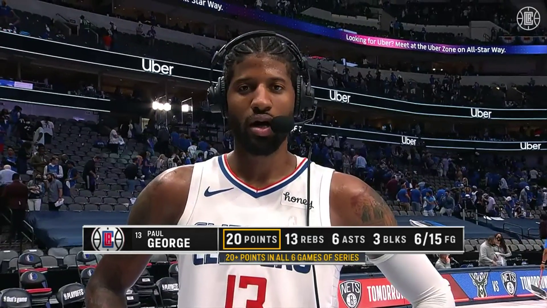 George on Pulling Away In 4th Quarter   Clippers vs Mavericks (6.4.21)