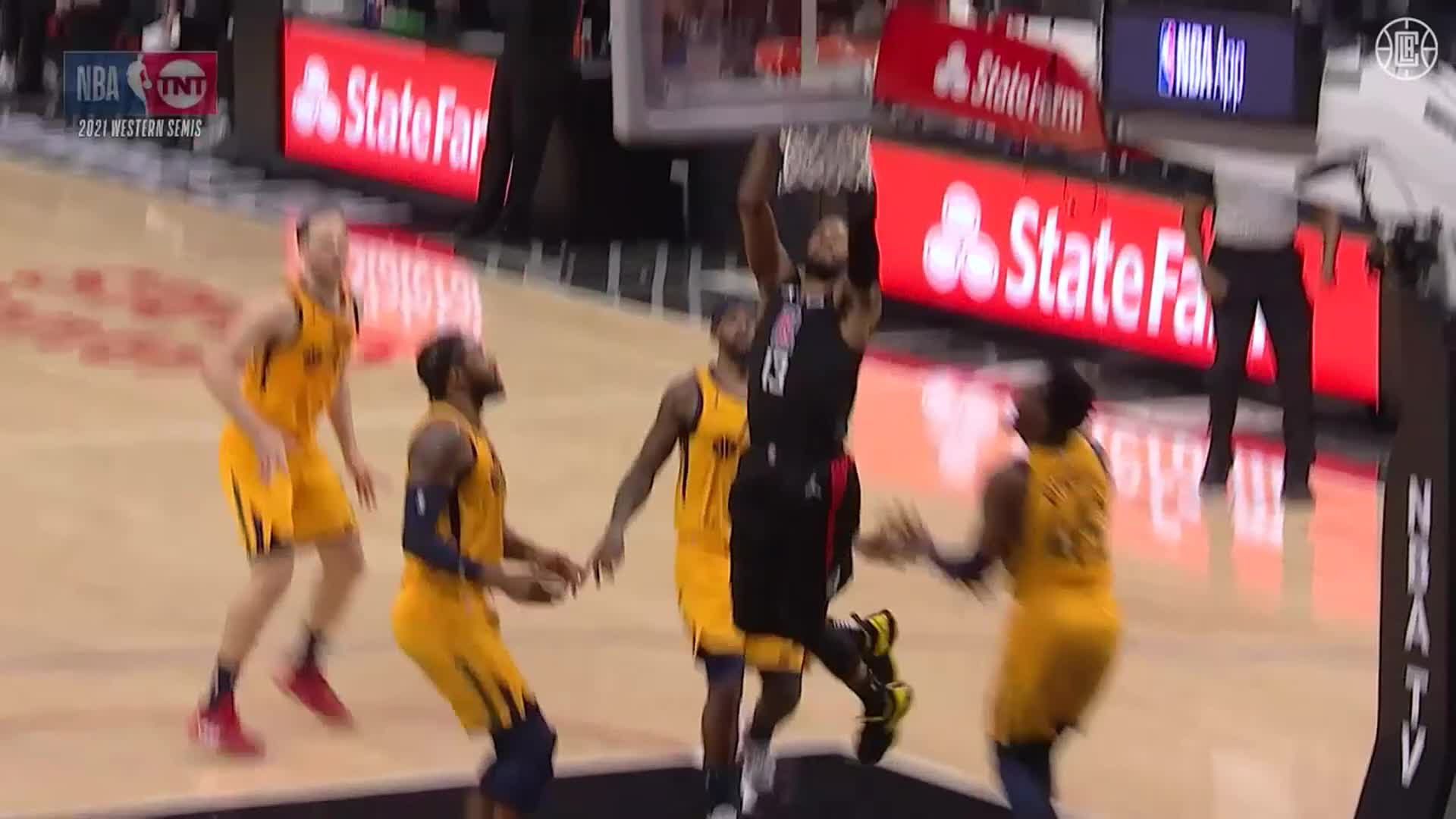 Paul George Dunk And-1 in 2nd Quarter vs Jazz | (6.14.21)