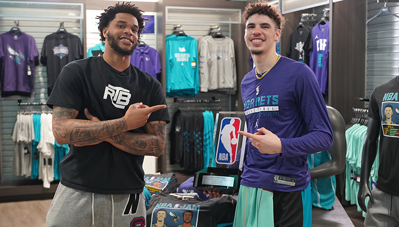 Miles Surprises LaMelo with 2020-21 Kia NBA Rookie of the Year Award