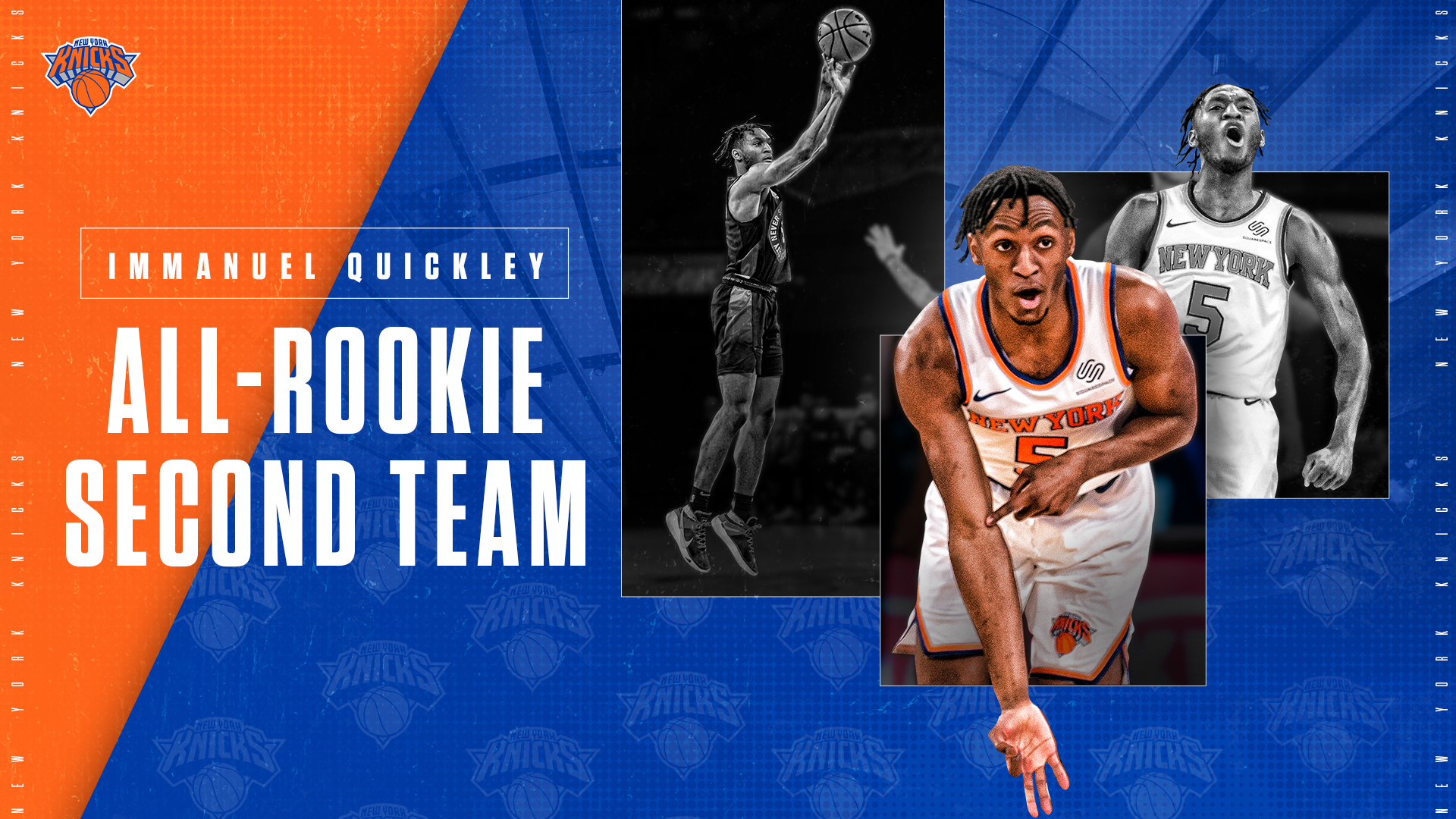 Immanuel Quickley Named to the 2020-21 All-Rookie Second Team