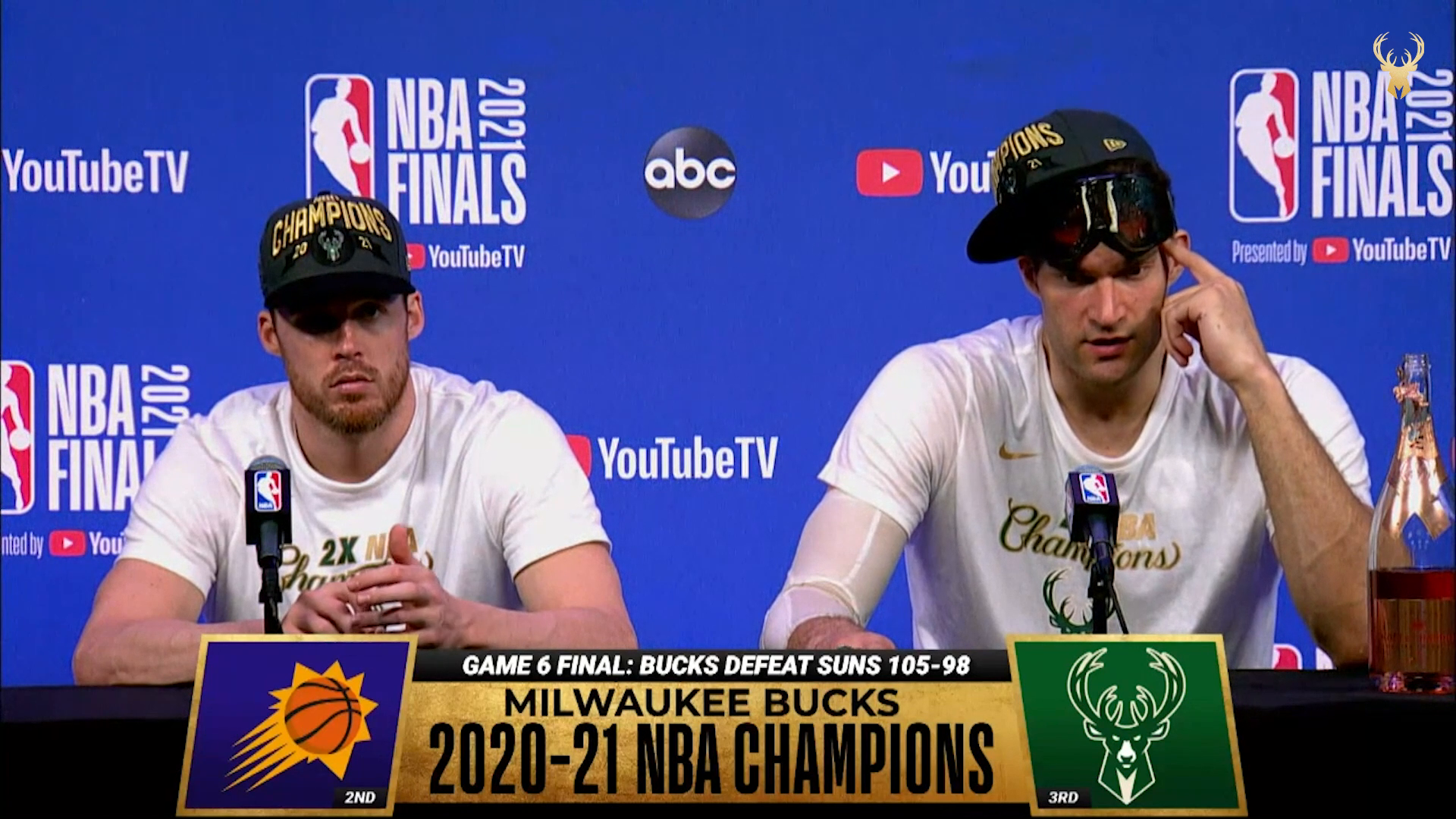Pat Connaughton and Brook Lopez NBA Finals Media Availability | 7.20.21