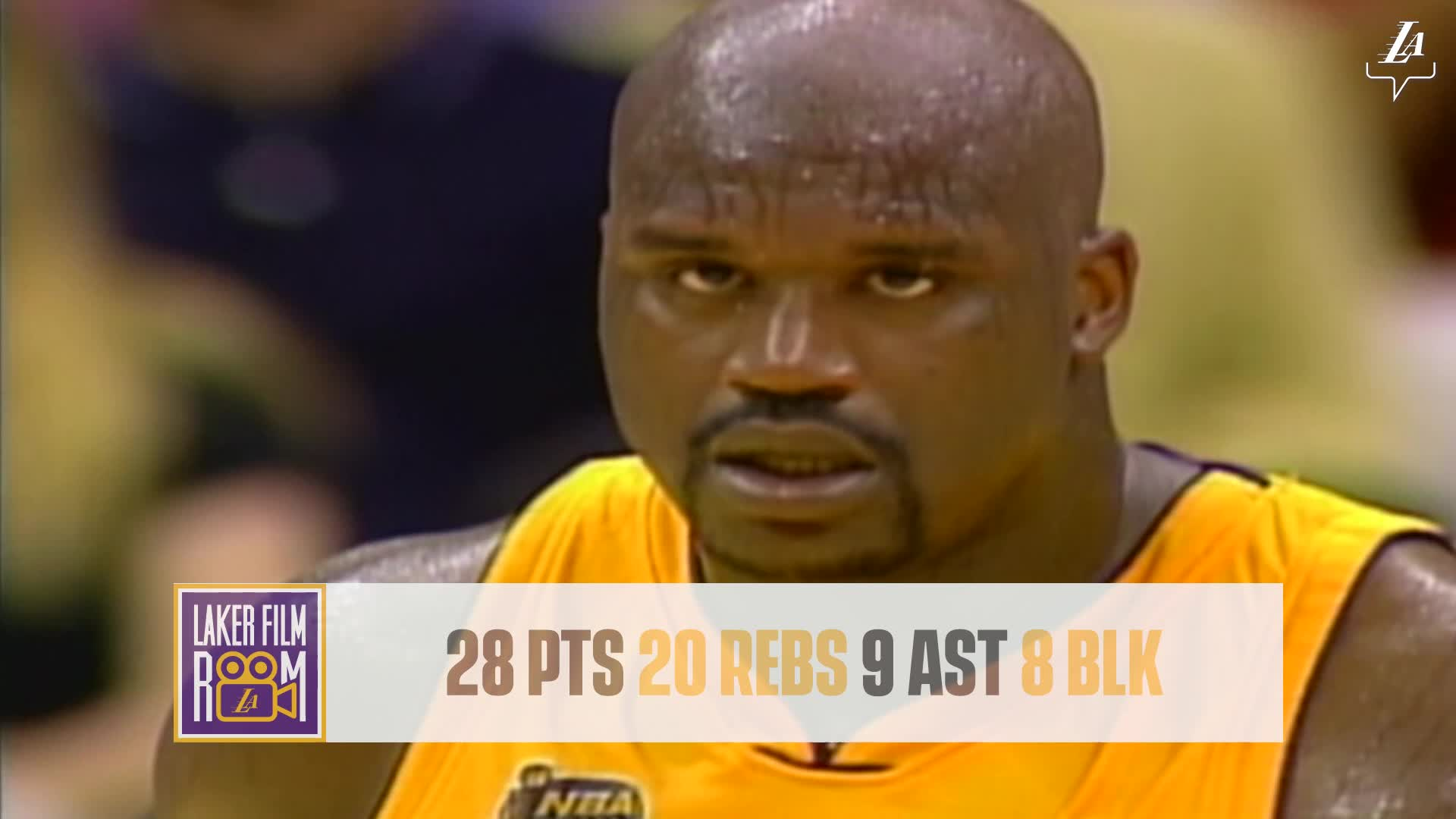 Laker Film Room: Greatest Lakers Games - Shaq in 2001 NBA Finals Game 2