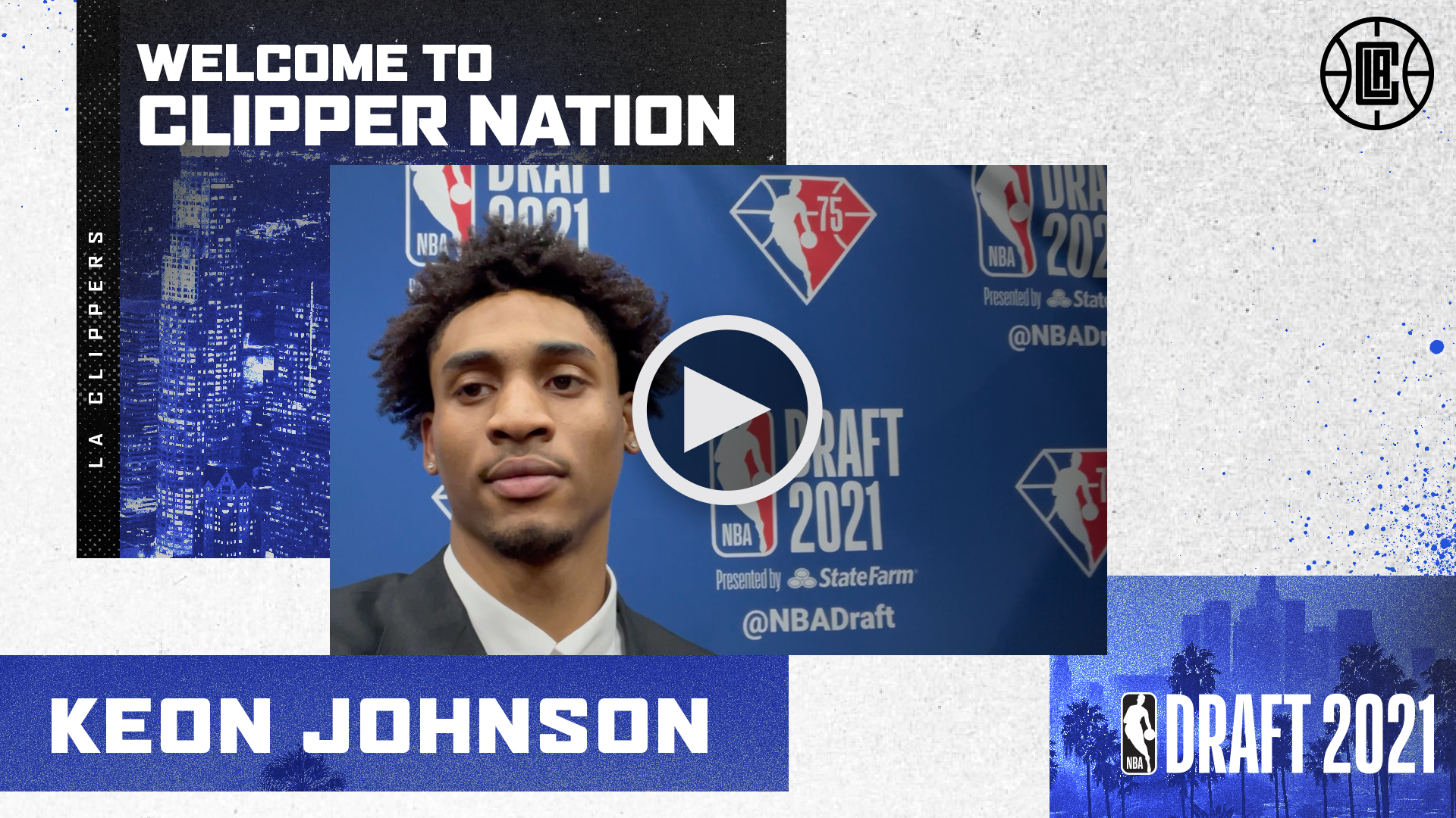 Welcome to Clipper Nation, Keon Johnson