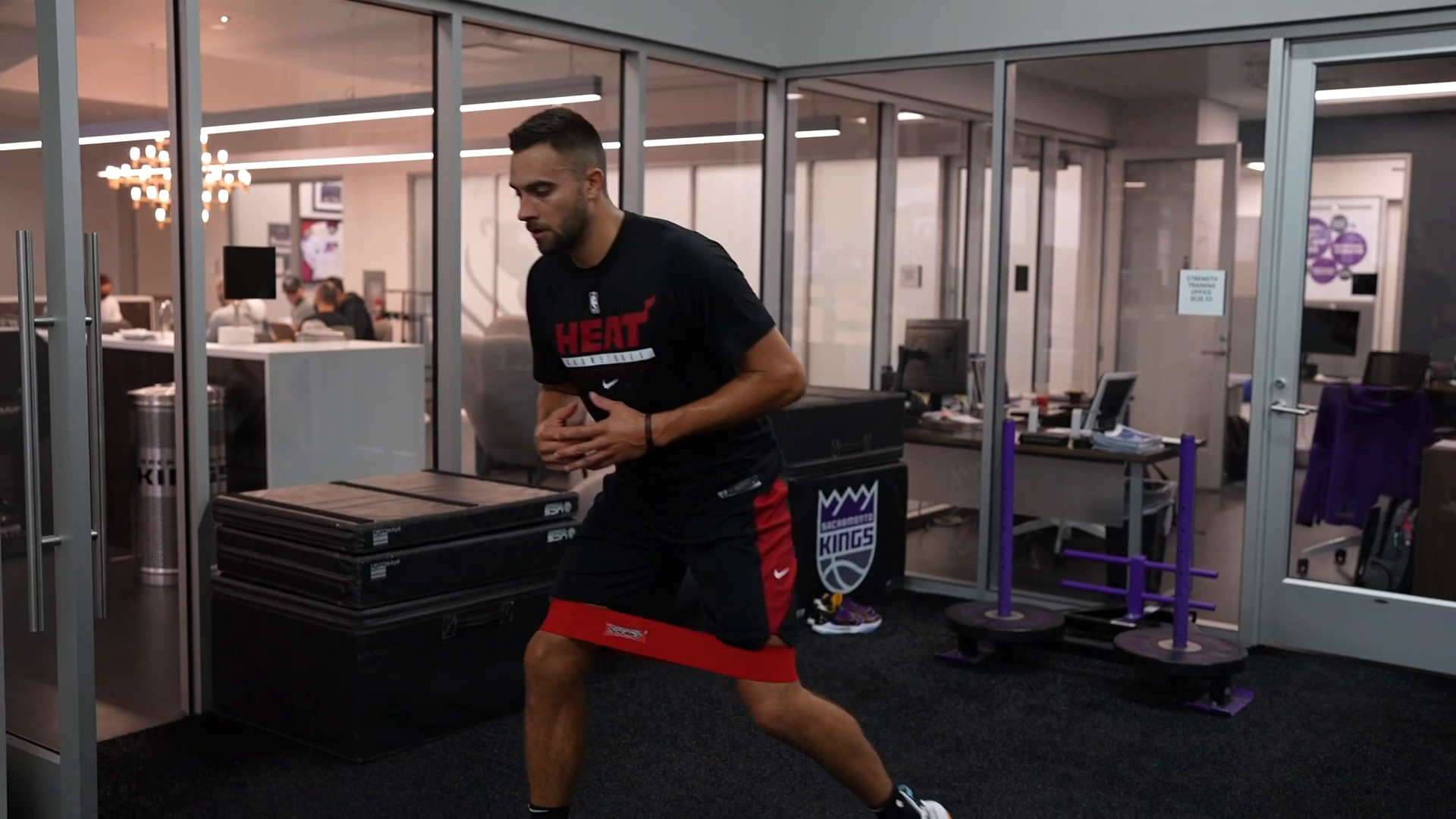 Max Strus Working Out - Presented by Baptist Health