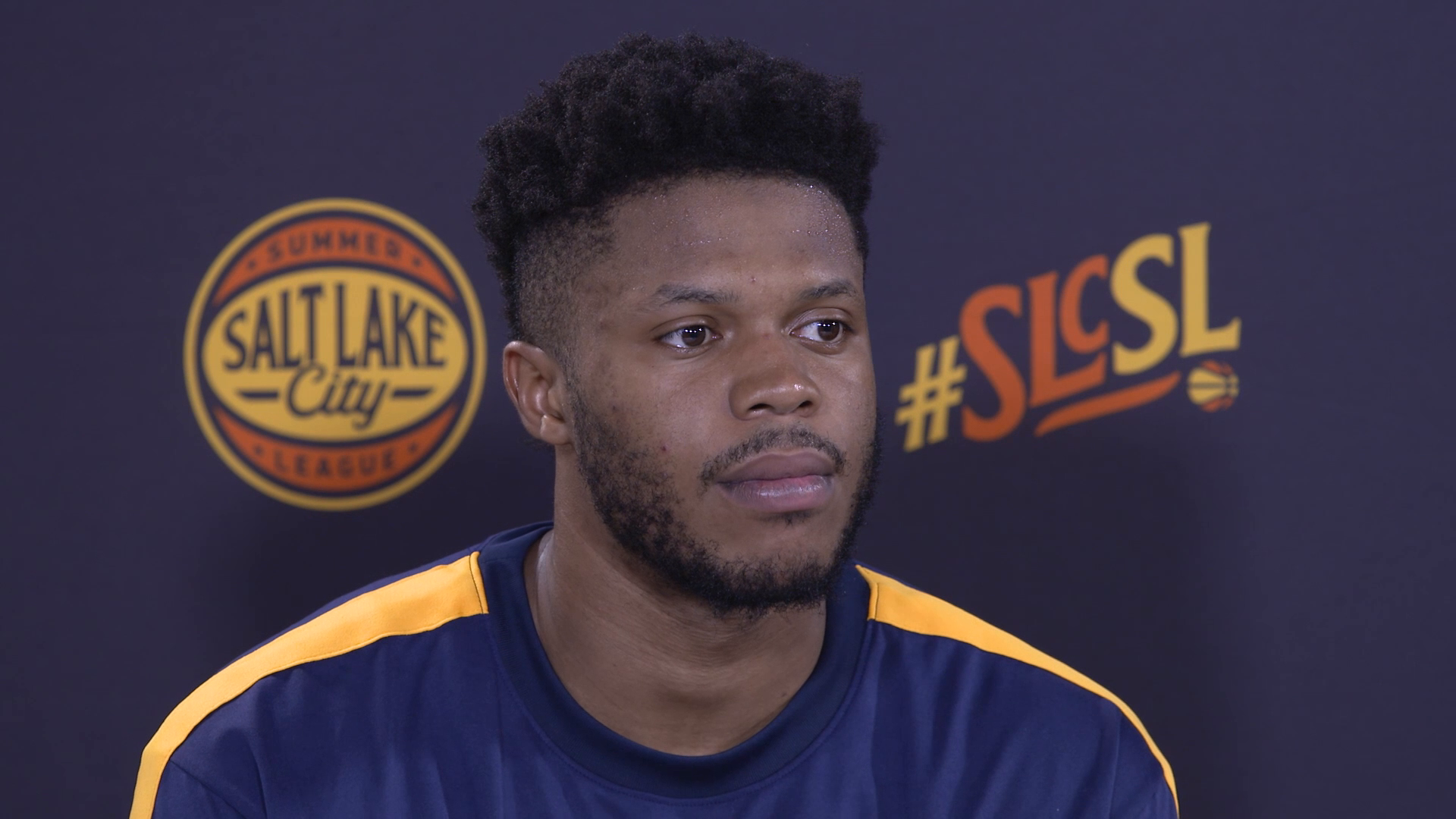 Justin Patton talks about playing on Team Blue for the Jazz