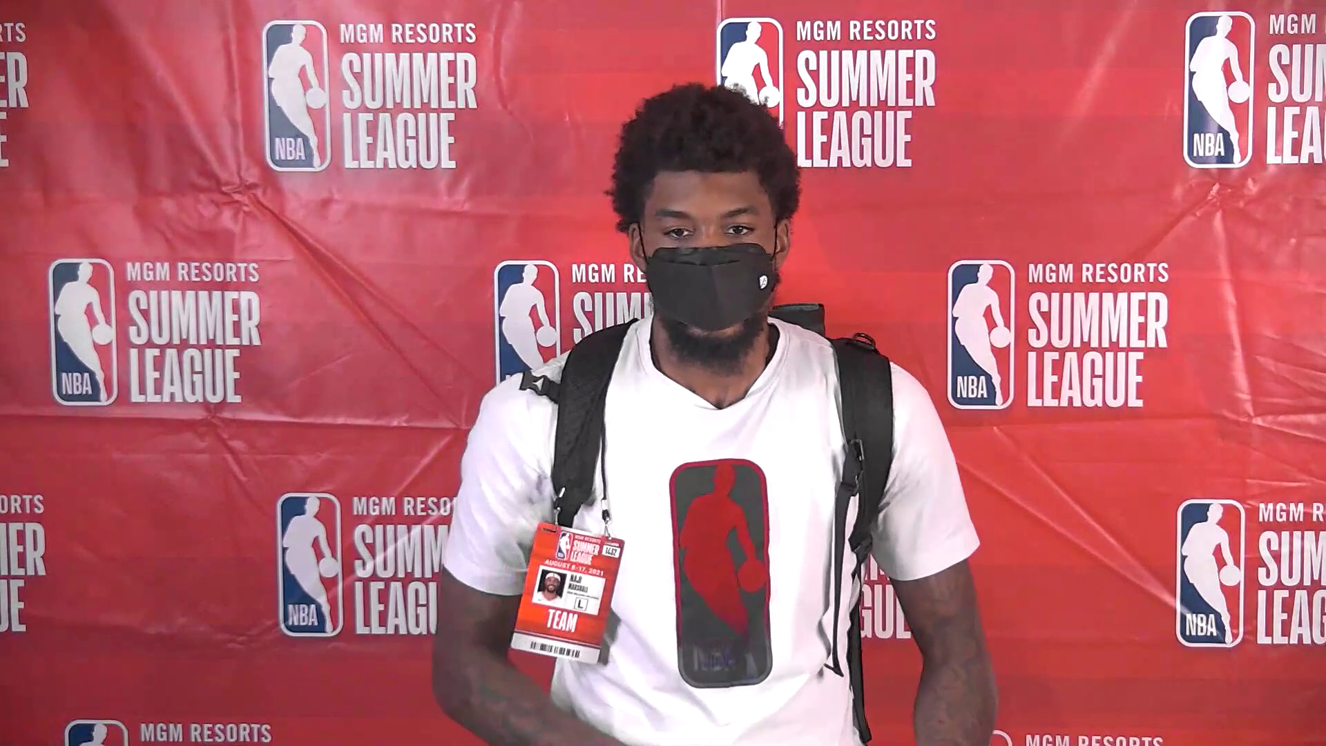 Naji Marshall Postgame Interview   Pelicans Summer League 8-9-21