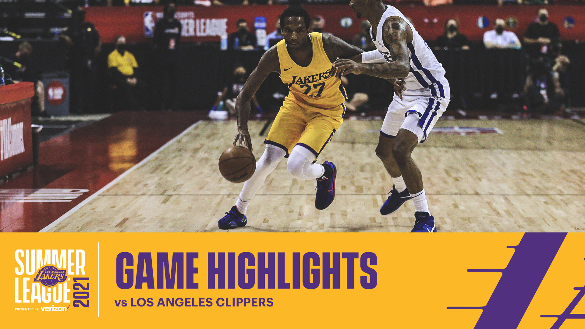 HIGHLIGHTS   Vic Law (15 pts, 8 reb) vs LA Clippers   Lakers Summer