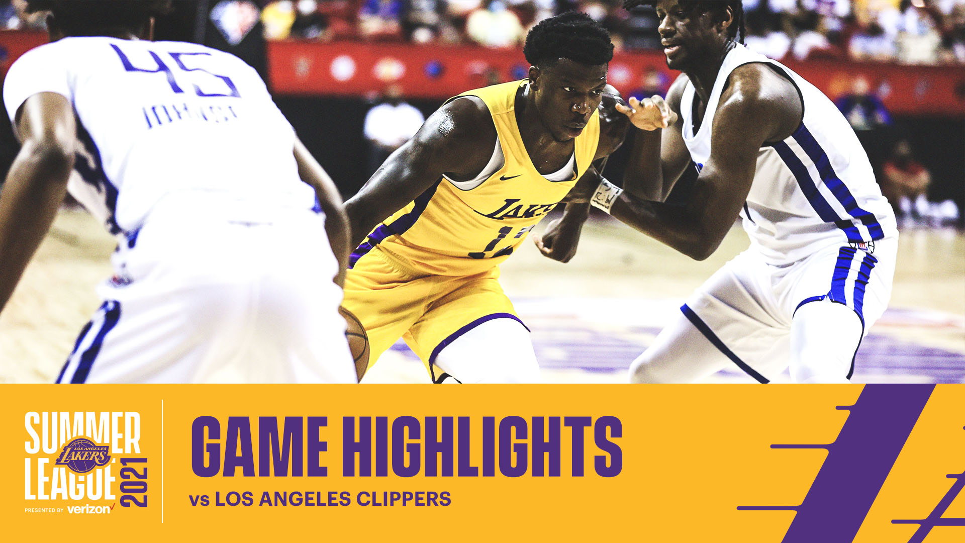 HIGHLIGHTS   Devontae Cacok (12 pts, 5 reb, 4 ast) vs LA Clippers   Lakers Summer