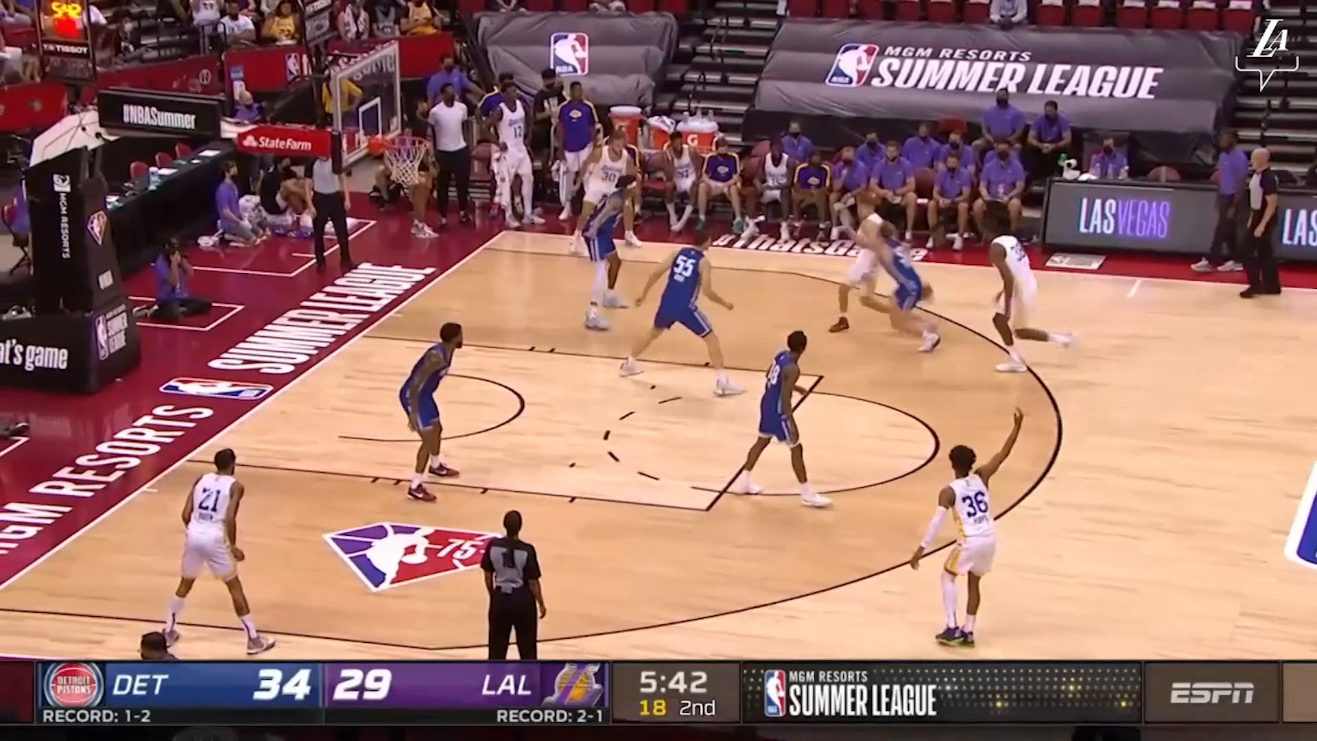 HIGHLIGHTS   Tres Tinkle (13 pts, 9 reb, 2 ast) vs Detroit Pistons   Lakers Summer