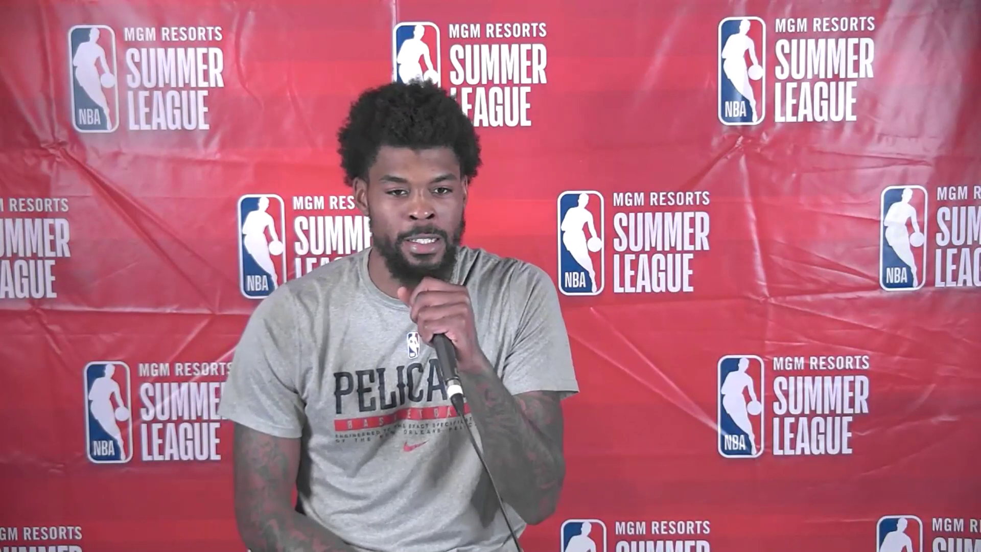 Naji Marshall Postgame Interview | Pelicans Summer League 8-17-21