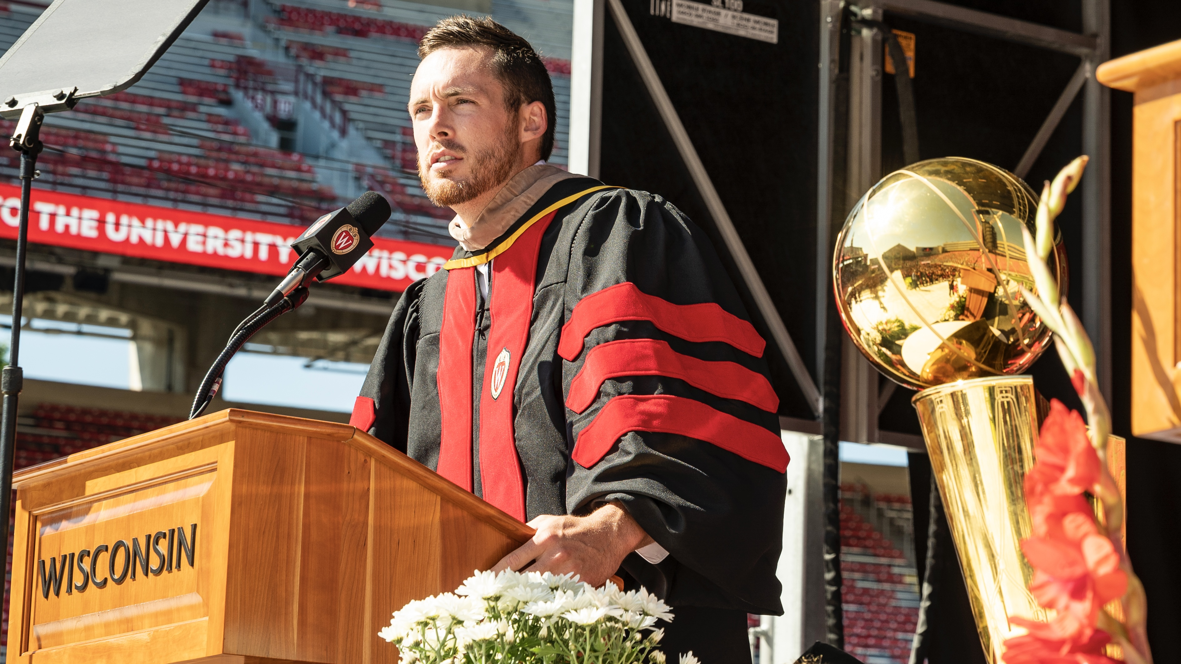 Pat Connaughton Gives University of Wisconsin Class of 2020 Commencement Address