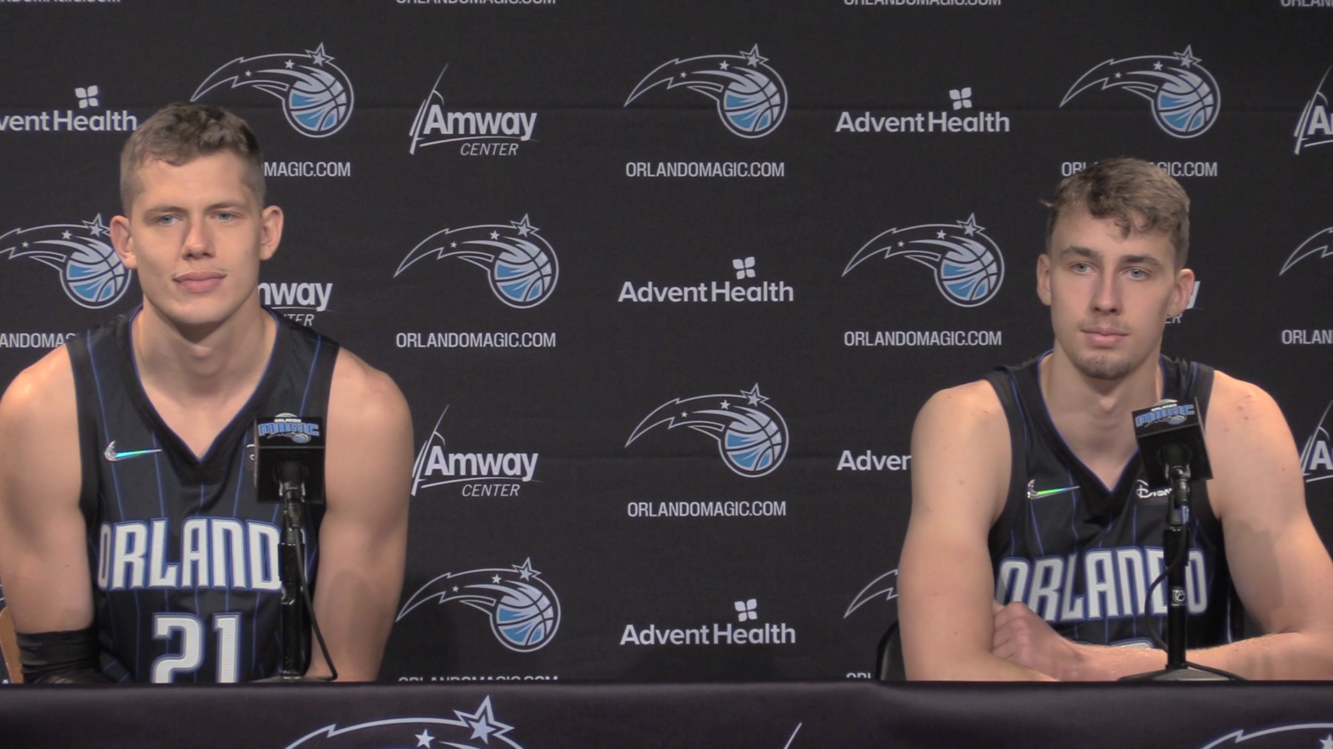 2021 Magic Media Day: Moe and Franz Wagner