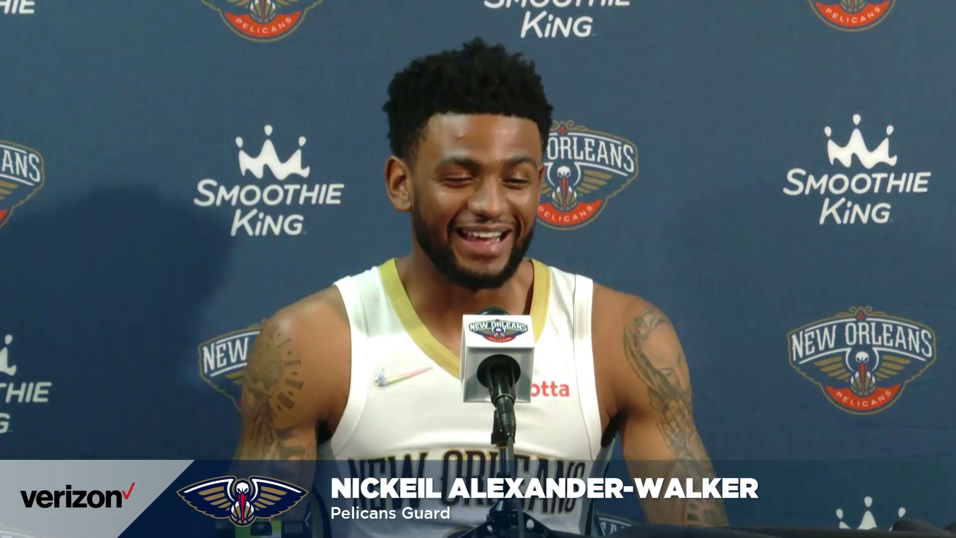 Nickeil Alexander-Walker on the guard group, leadership heading into Year 3 | Pelicans Media Day 2021 Interviews