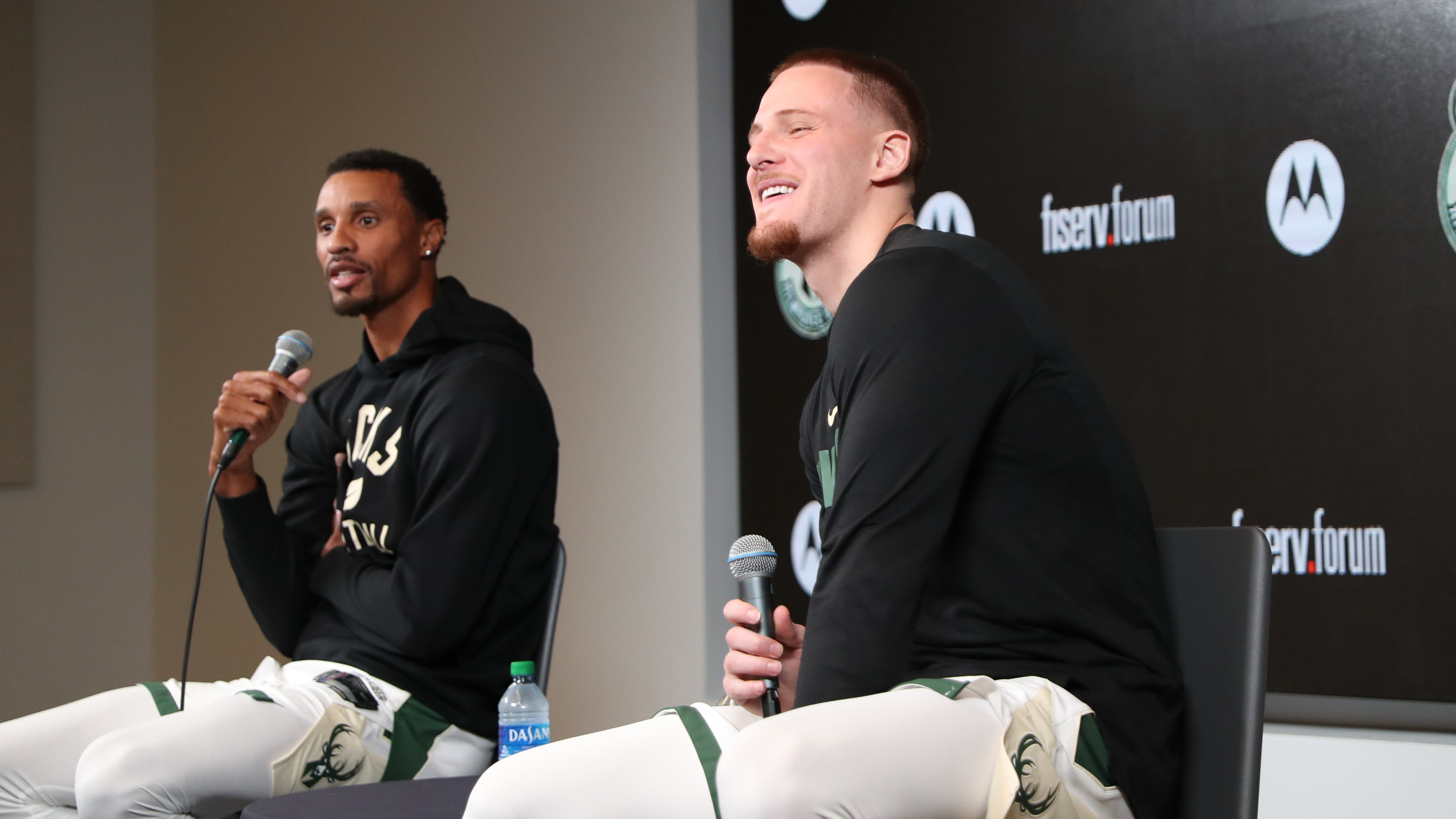 NBA Media Day: George Hill & Donte DiVincenzo
