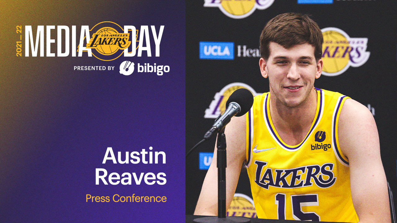 Lakers Media Day: Austin Reaves Press Conference | Presented by bibigo