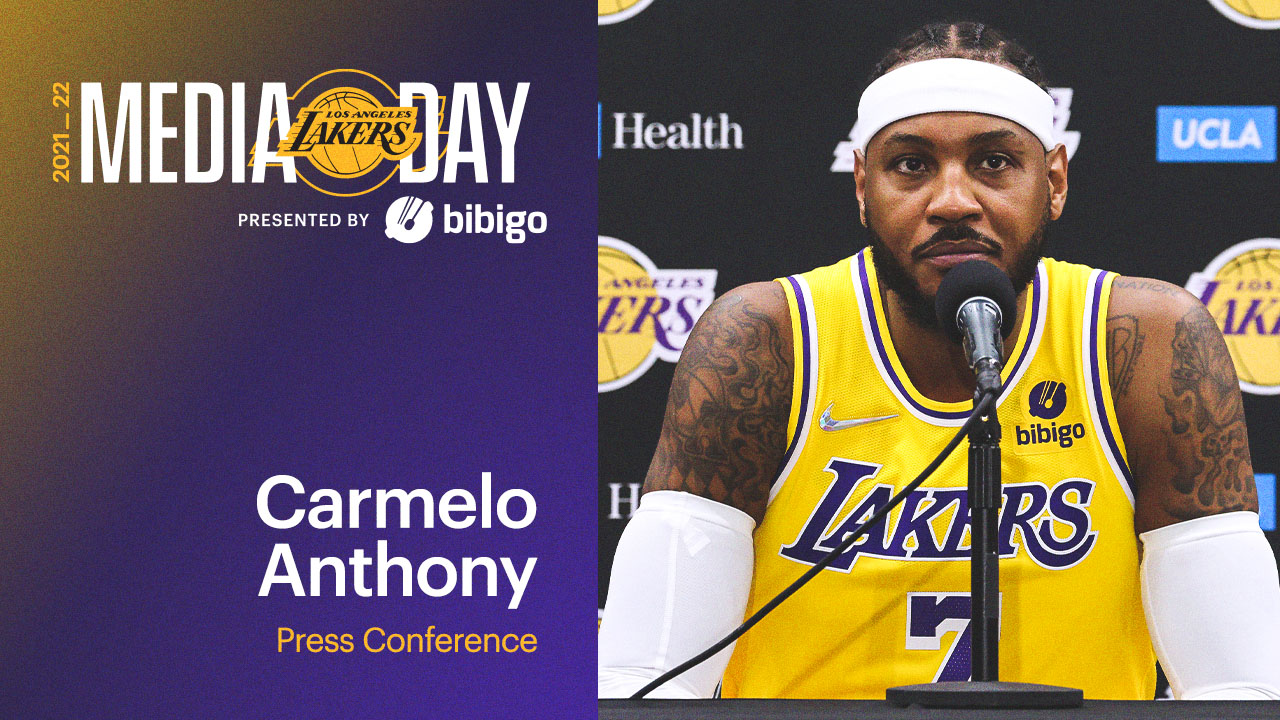 Lakers Media Day: Carmelo Anthony Press Conference | Presented by bibigo