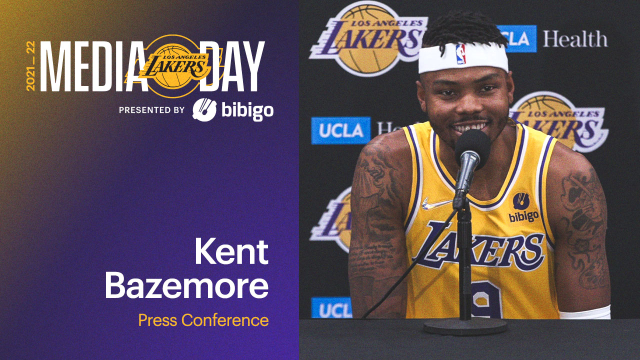 Lakers Media Day: Kent Bazemore Press Conference | Presented by bibigo