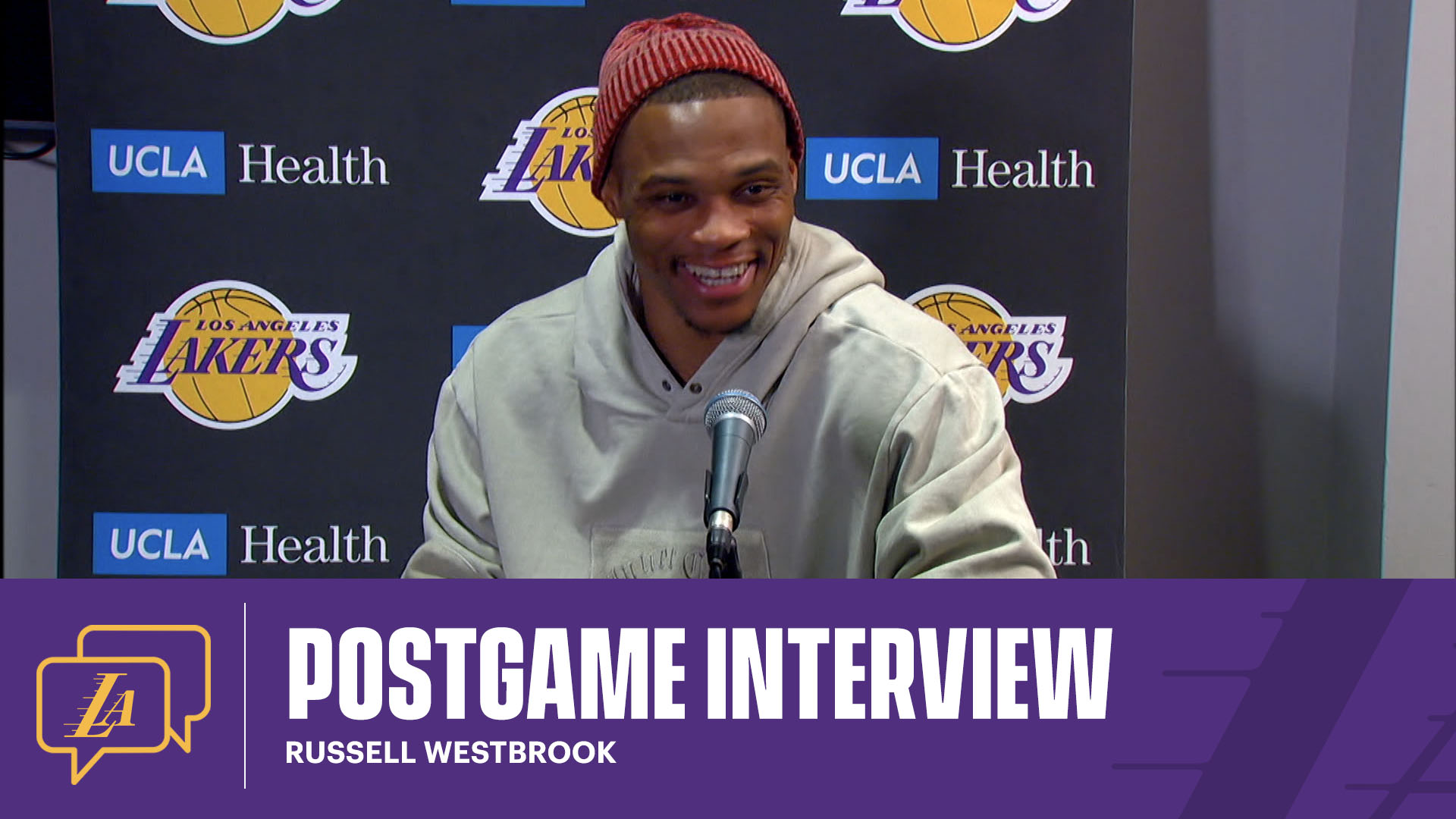 Lakers Postgame: Russell Westbrook (10/14/21)