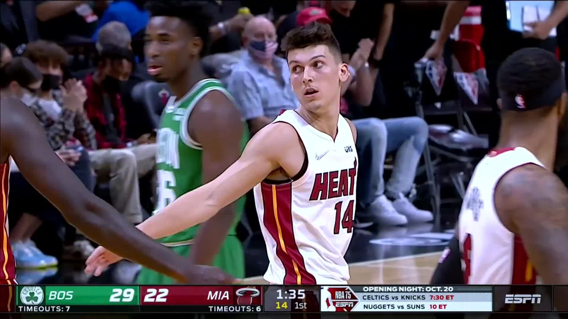 Tyler Herro with 26pts, 6rebs, 4asts