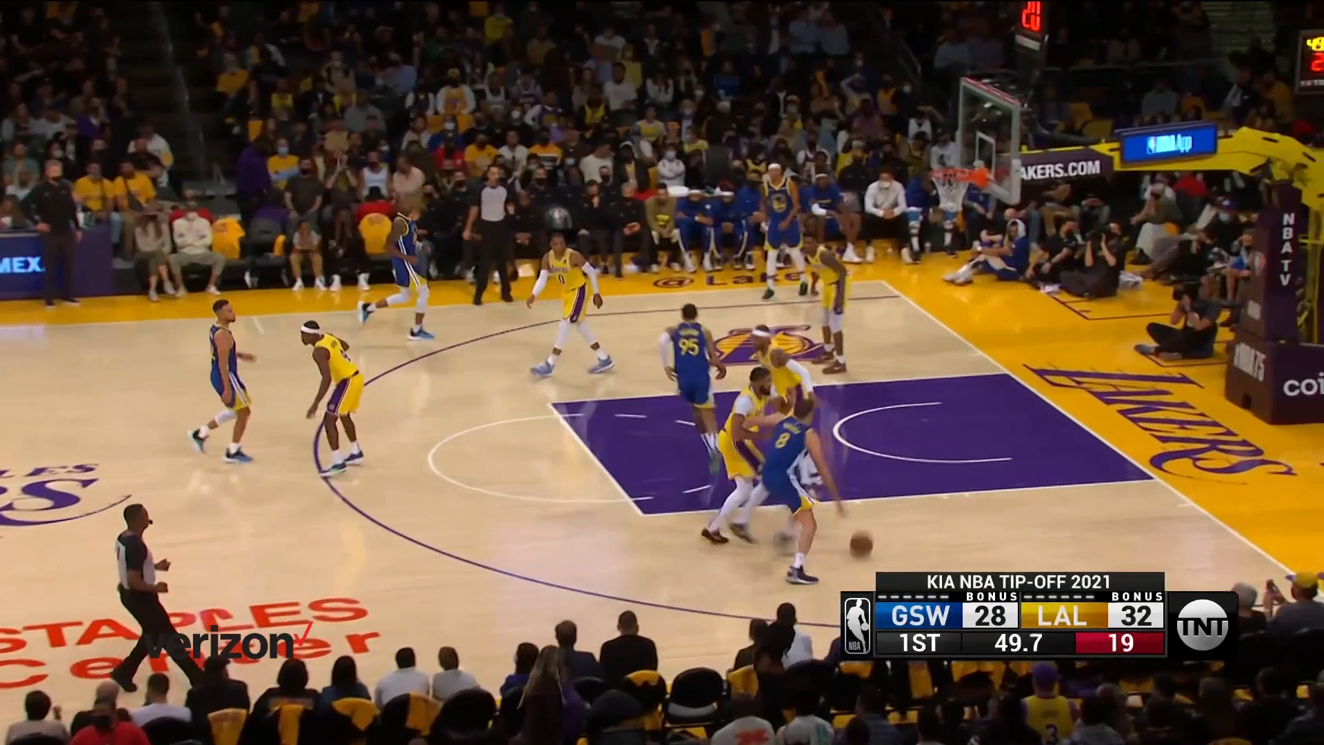 Verizon Game Rewind: Curry Records Triple-Double in Win Over Lakers
