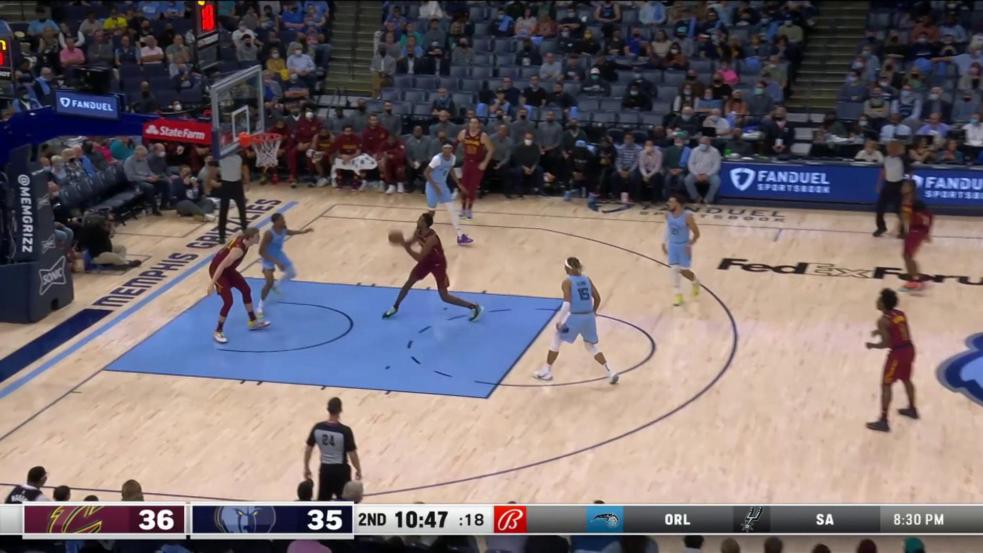 Mobley Gets the Block, Rewarded with a Dunk on the Other End