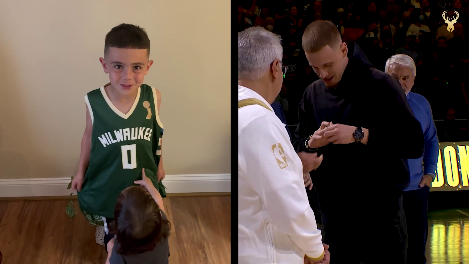 Bucks Players And Staff Surprised By Family Congratulations