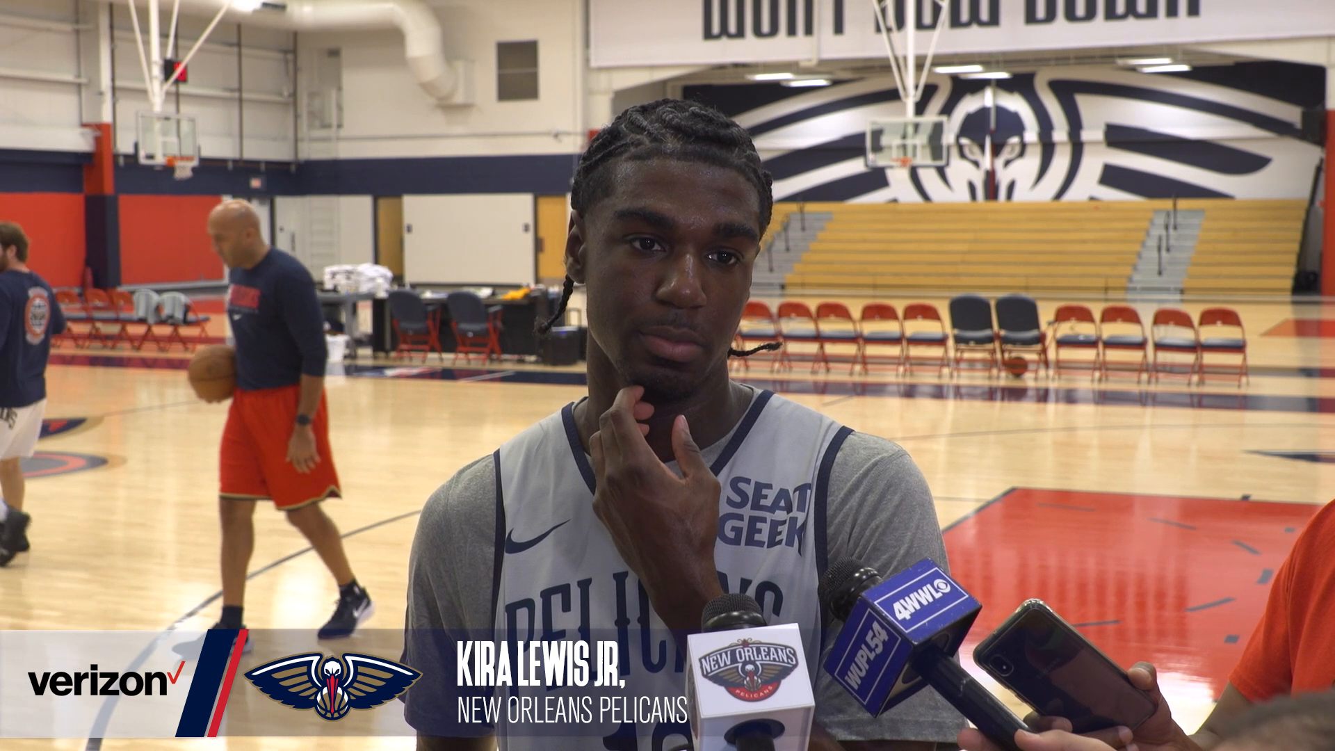Kira Lewis Jr. on bench unit struggles and playing against Lonzo Ball | Pelicans Practice 10-21-21