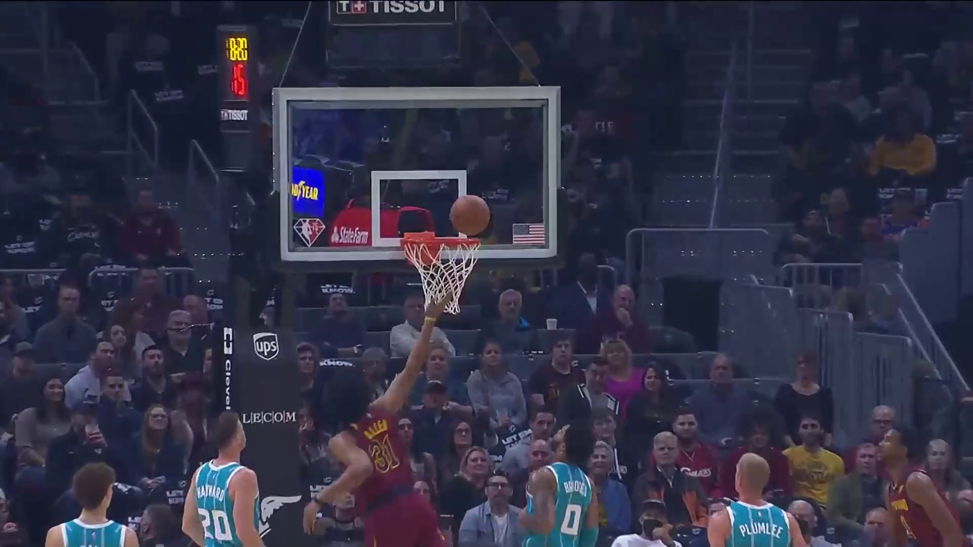 Allen Drives Down the Middle for Layup