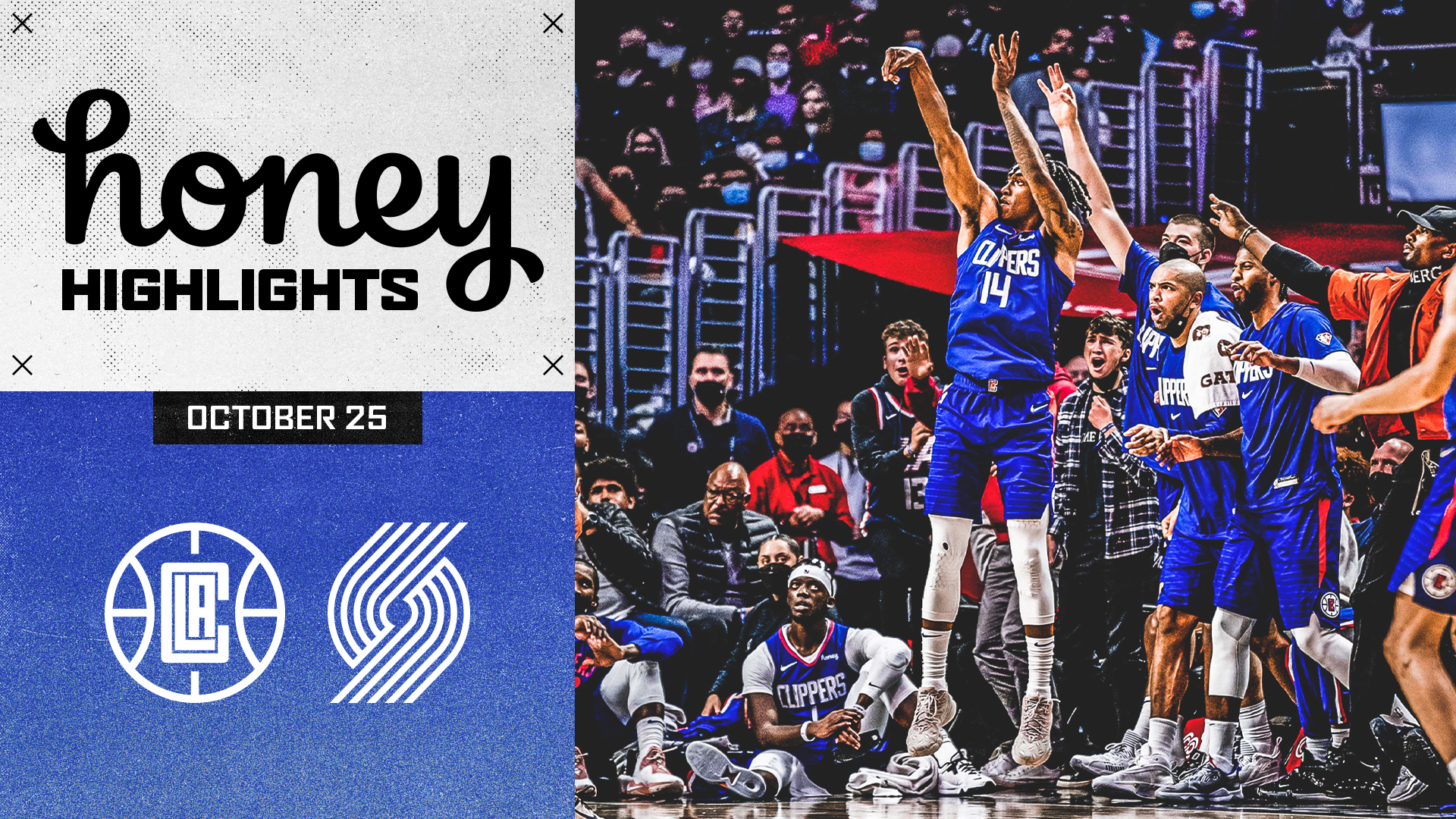 Honey Highlights | Clippers Win vs Trail Blazers | (10.25.21)